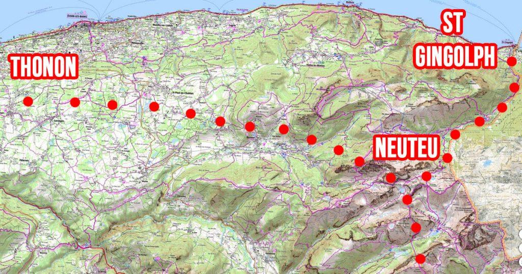premières étapes GR5 alpes